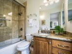 Beautifully designed master bathroom.