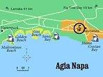 Map Agia Napa