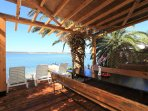 Pergola 5 meters from the beach, designed for pure enjoyment!