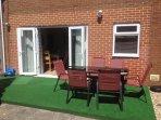 Sunny back garden