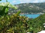 Vue sur la baie de Trinité depuis la terrasse