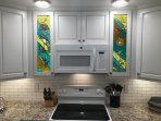 Stained Glass Cabinet Doors by a local Savannah artist