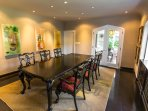 Elegant separate dining room seats 8+