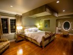 master bedroom with separate bath and private shower