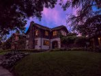 Fischer House at sunset