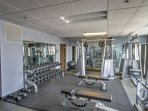 Enjoy access to this well-equipped fitness center during your stay.