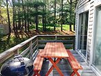 Charcoal BBQ and DIning on the Deck-13 Marlin Road South Harwich Cape Cod New England Vacation Rentals