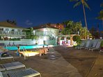 Relax in the pool and jacuzzi at the end of your day as the sun sets over Maui.  :)