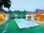 Villa pool and garden