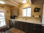 Kitchen, middle level. Bigfoot Cabin Unit 4 Lot 281 Pine Mountain Lake Vacation Rental Near Yosemite National Park