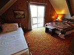Guest bedroom, third floor, 1-queen + 1-twin. Bigfoot Cabin Unit 4 Lot 281 Pine Mountain Lake Vacation Rental Near...