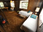 Guest bedroom, first floor, 2-twins. View 2. Bigfoot Cabin Unit 4 Lot 281 Pine Mountain Lake Vacation Rental Near...