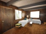 Guest bedroom, first floor, 2-twins. View 3. Bigfoot Cabin Unit 4 Lot 281 Pine Mountain Lake Vacation Rental Near...