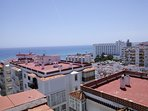 Sea view from the communal roof terrace