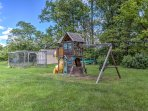 The kids will spend hours playing on the play set out back.