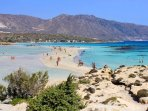Elafonisi beach on the south part of Crete