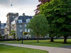 The Gleneagles Hotel, a five minute walk from our apartment and the golf courses