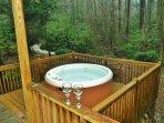Hot Tub overlooking the creek