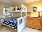 The home provide's 2 bedrooms with twin-over-full bunk beds, perfect for younger travelers.