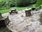 Large patio  to enjoy FIRE PIT & BBQ, lots of seating
