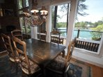 Dining. Marina Beach Lakefront Chateau. Luxury Lakefront Vacation Rentals 50yds to the Marina Beach.