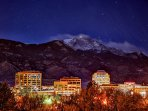 Downtown Colorado Springs is less than a 10 minute drive