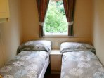One of the two twin bedrooms