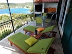 Villa Marela north terrace and summer kitchen.