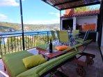 Villa Marela north terrace and BBQ.