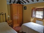 This is the twin room at the La Rondana Holiday Rental