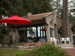 Great outdoor dining and a place for morning coffee on the patio