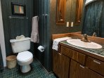 Bath in master en-suite also has full size washer and dryer