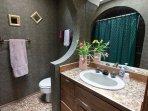 Main bath also has tub and shower