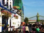 Hammersmith Bridge is 20mins walk away with great pubs & Thames views.The Blue Anchor is a favourite
