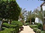 Gartenanlage des Resorts