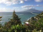 View on Naples Gulf and Mount Vesuvio