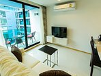 Livingroom with nice view and big TV (English channels)