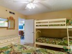 The Crew's Quarters is great for two adults and their children or for all the children!  This room has a large flat...