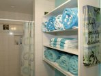 Plenty of Soft and Fresh Beach Towels, Pool Towels, Bath Towels, Hand Towels, and Washcloths...