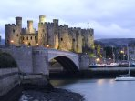 World heritage Conwy Castle short drive away
