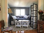 Alcove with day bed and trundle.