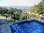 Spa off great room/master bedroom with ocean view
