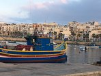 maltese luzzu (fishing boat) just down the road