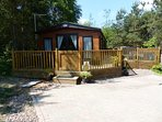 Stag Lodge, brand new premier 2 bedroom property with spacious terrace and sunken hot tub.