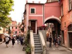 Cross road Via Roma (main street) - Via Vittorio Emanuele close to home