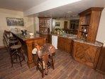 Rio Bravo style bar in lower level of main lodge.