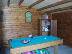 Games room Pool, darts , board games ect. Outdoor Games Badminton, Cricket set, Volley Ball.