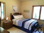 Bdrm 2:  Queen bed, lg closet, dresser, lake & front views