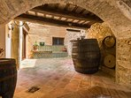 Wine barrels from when this 1605 masia produced 40,000 litres of wine each year