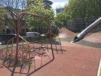 The children's playground next door